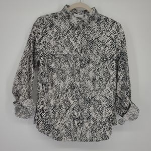 4/$25 New York and Company Snake Print Blouse